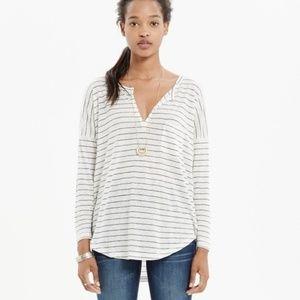 Madewell Linen Telegraph Pocket Striped T-Shirt